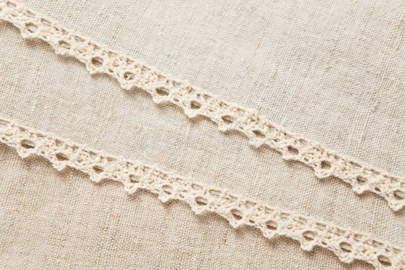 Beige laced linen
