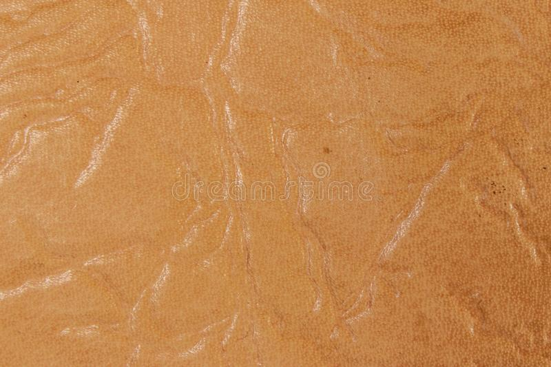 Beige leather texture. For background stock photography