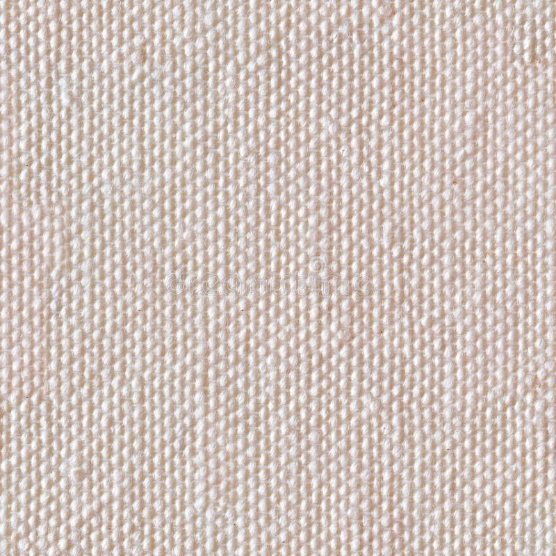 Beige linen canvas. Seamless square texture. Tile ready. High quality background. Beige linen canvas. Seamless square texture. Tile ready royalty free stock photos