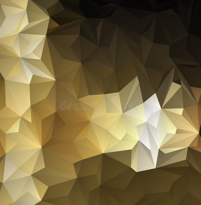 Beige low poly background. Big triangles pattern, modern design. royalty free illustration