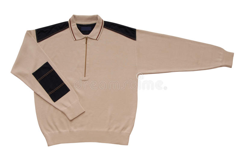 Beige male sweater stock photos