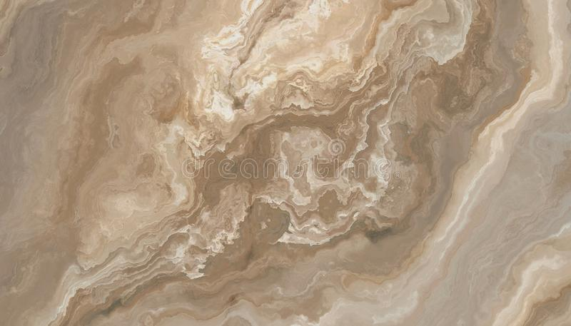Beige marble texture. Beige marble pattern with curly veins. Abstract texture and background. Soft colored 2D illustration stock photos