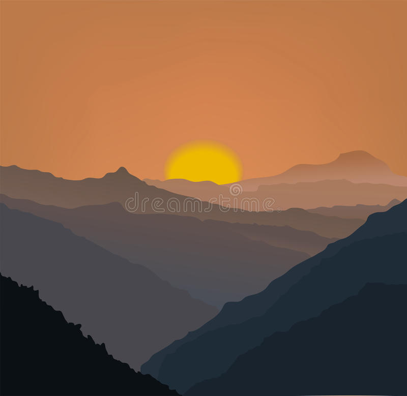 Download Beige mountains in a fog stock vector. Illustration of mountain - 32325222