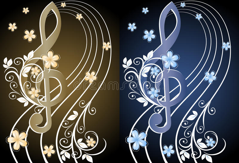 Download Beige musical background stock vector. Image of flower - 23247569