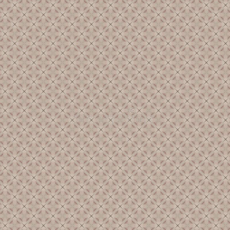 Beige nahtloses Muster mit geometrische Formen lizenzfreie abbildung