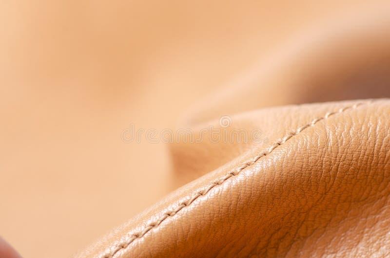 Beige natur för tyg för gulinglädermaterial royaltyfri fotografi