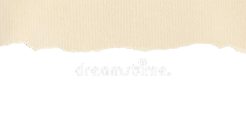 Download Beige Paper With Torn Edge On White Stock Image - Image: 26597289