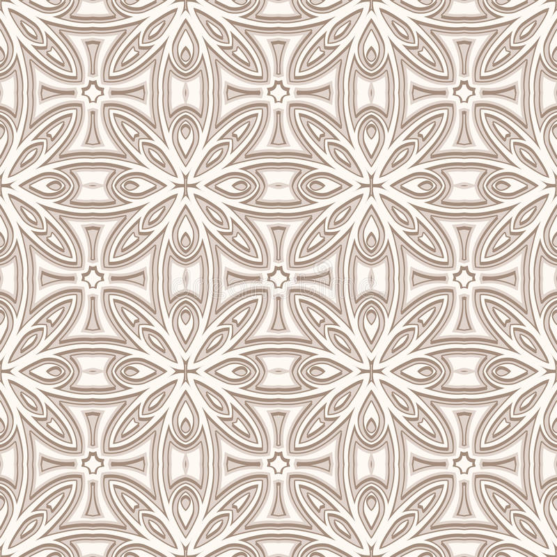 Beige pattern. Ornamental beige background, seamless pattern royalty free illustration