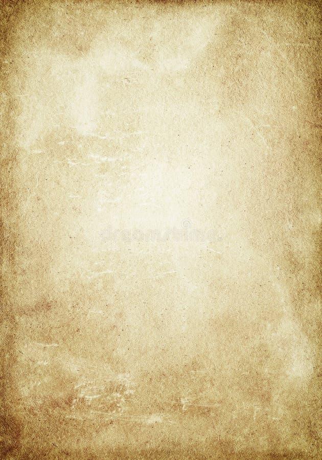 Beige Schmutzhintergrund, alte Papierbeschaffenheit, rau, zerknittert, sta stock abbildung
