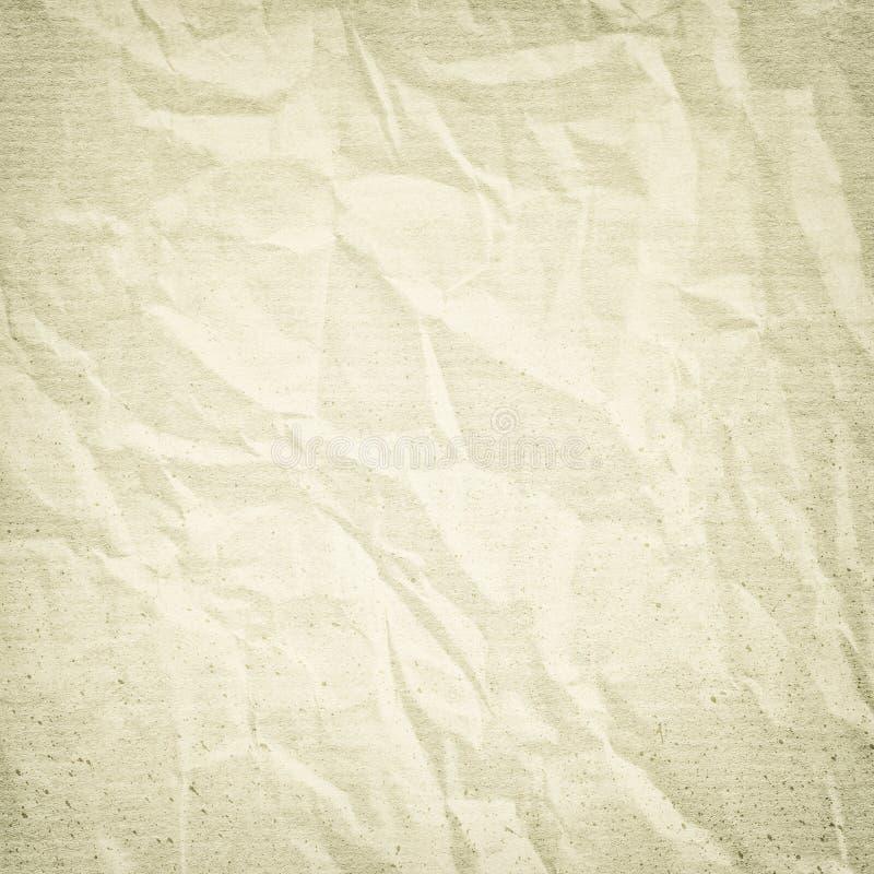 Beige Schmutzhintergrund, zerknitterte Papierbeschaffenheit, rau, rau, Flecke, Weinlese, Retro-, alt, leer, f?r Entwurf vektor abbildung