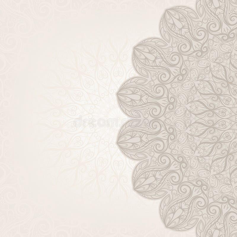 Beige sierachtergrond vector illustratie