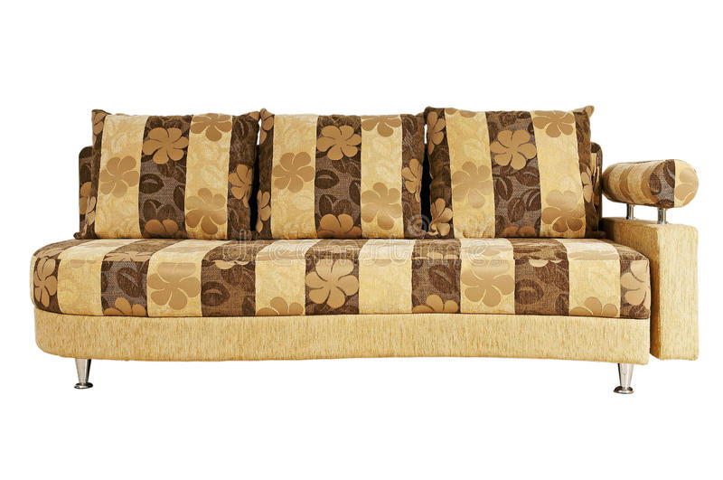 Download Beige Sofa Isolated On White Background Stock Illustration - Image: 27343378
