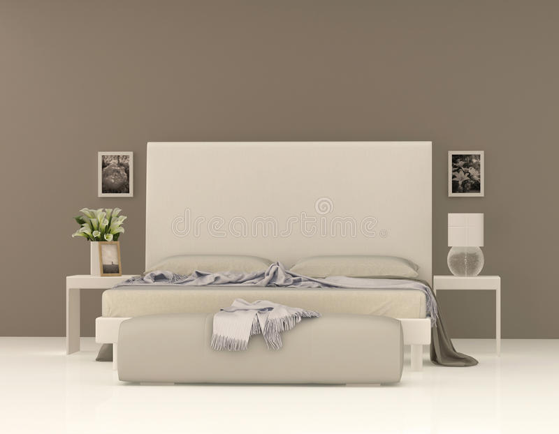 Beige sovrum stock illustrationer. illustration av hotell   49781168