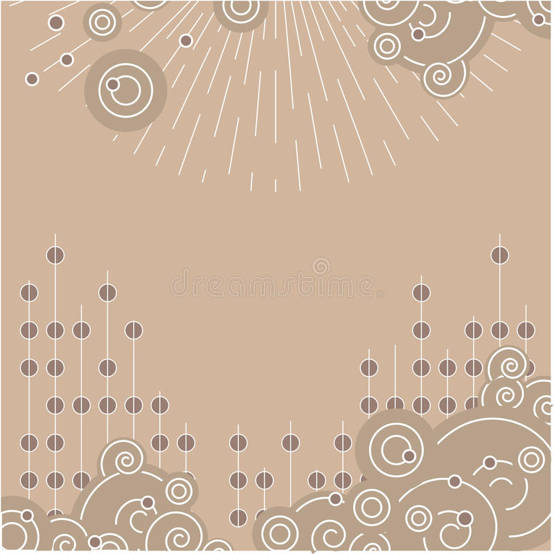 Download A beige spiral background. stock vector. Image of bubbly - 11918965