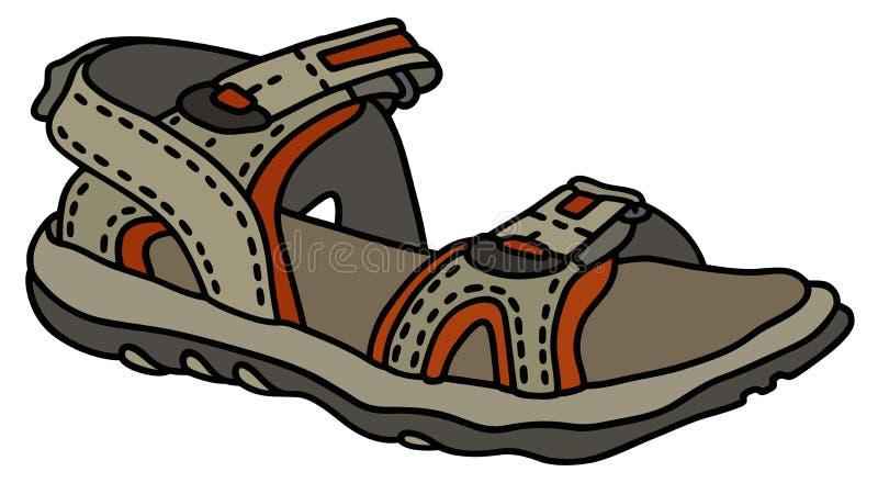 Beige sport sandal royalty free illustration