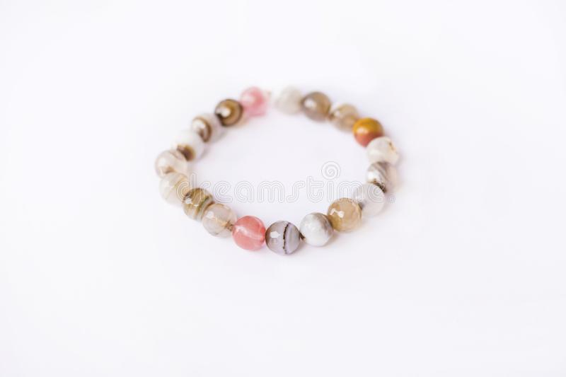 beige stone bracelet stock photos