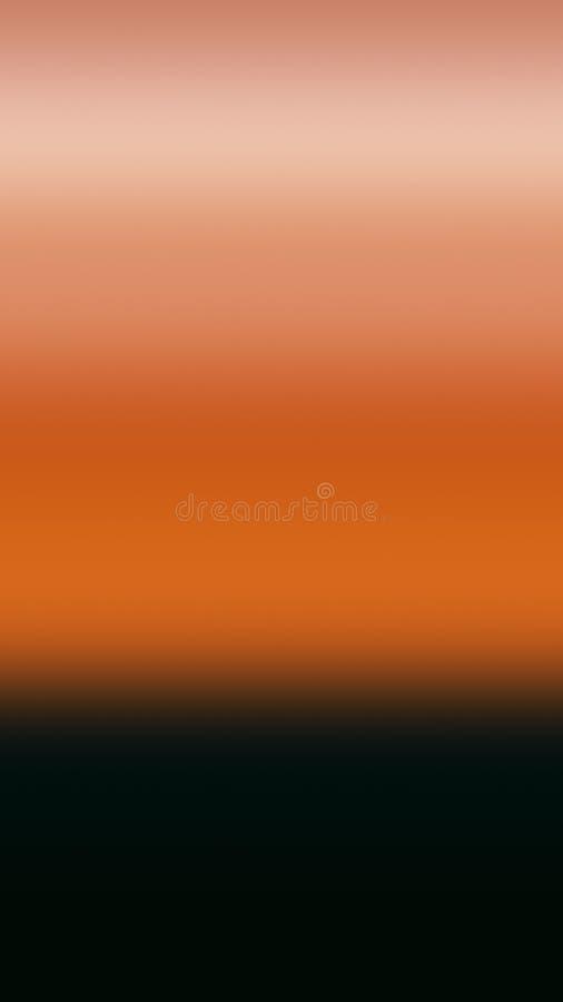Beige Terrakottahimmelsteigungs-Hintergrundlicht, blasser Rauch vektor abbildung