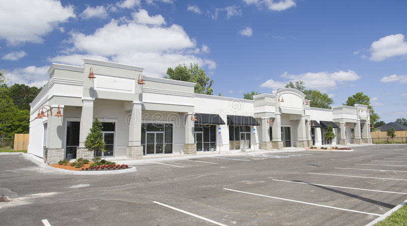 Download Beige Toned Commercial Strip Mall Stock Images - Image: 9210754