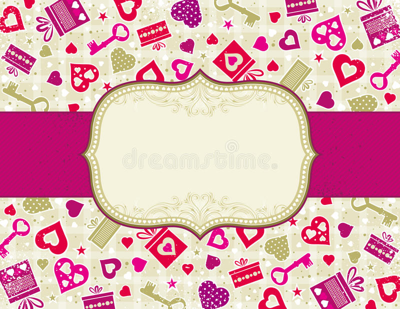Download Beige Valentine Background, Stock Vector - Illustration of love, curve: 17435538
