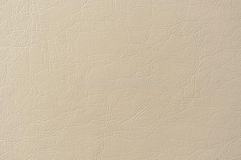 Beige van het Kunstleder Textuur Als achtergrond stock afbeelding