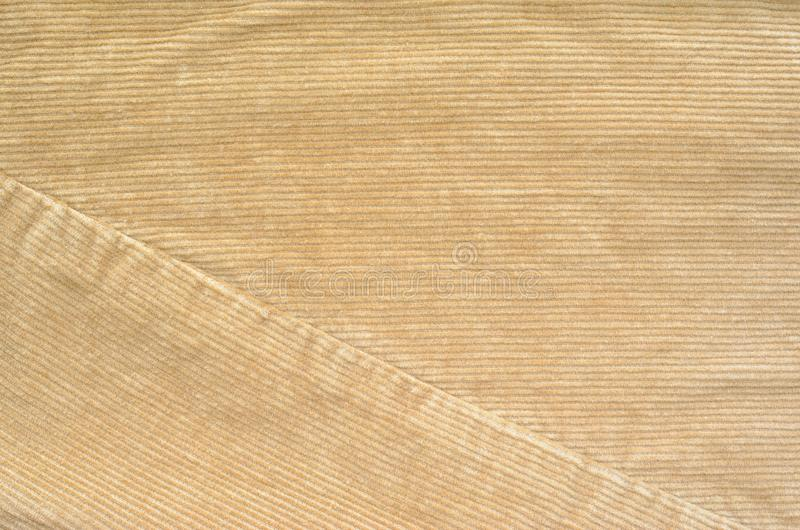 Beige Velvet Cloth Texture with Stitches stock image