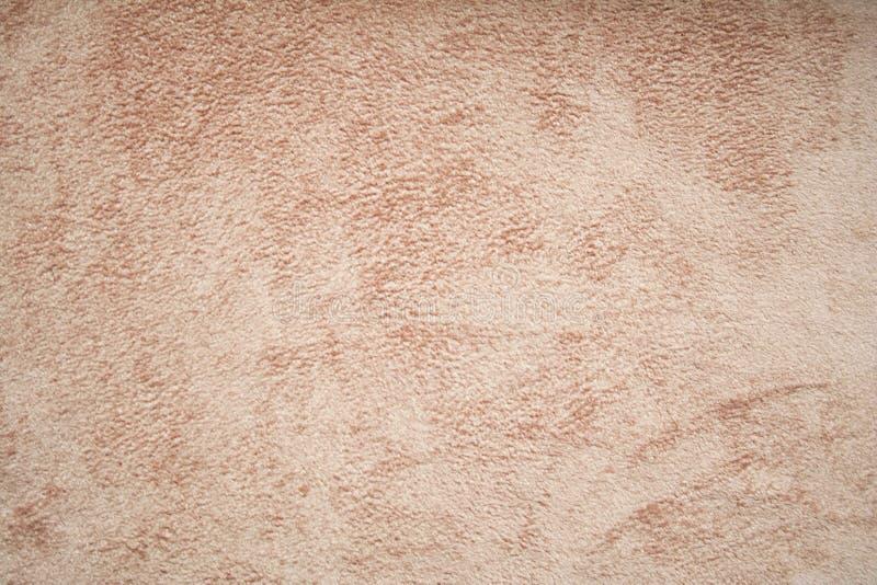 Beige velvet fabric background stock photo
