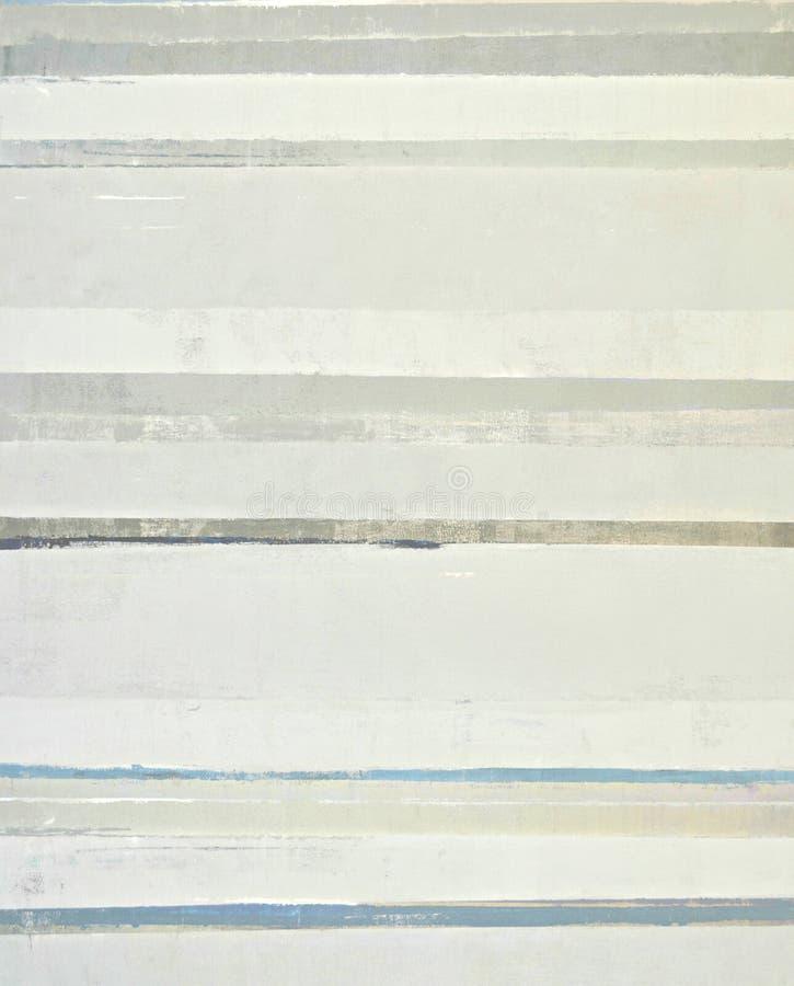 Beige y Grey Abstract Art Painting imagen de archivo