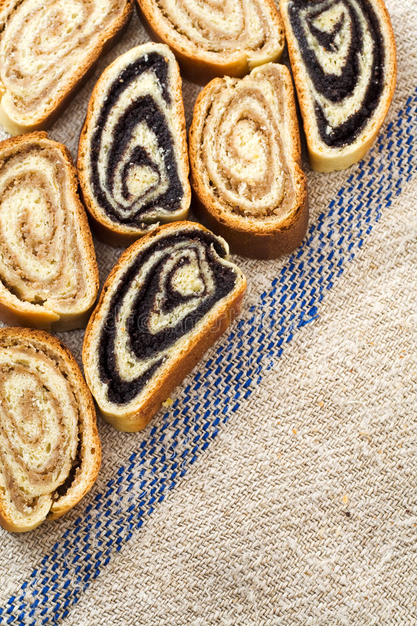 Download Beigli - Hungarian Poppy Seed And Walnut Rolls Stock Photo - Image of christmas, loaf: 7630472
