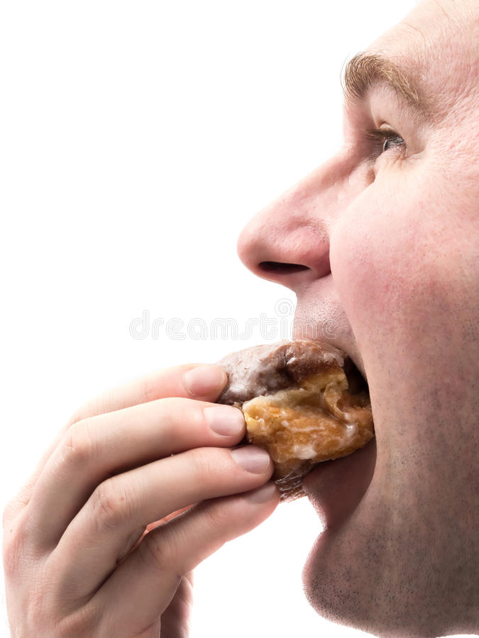 Beignet mangeur d'hommes photos stock