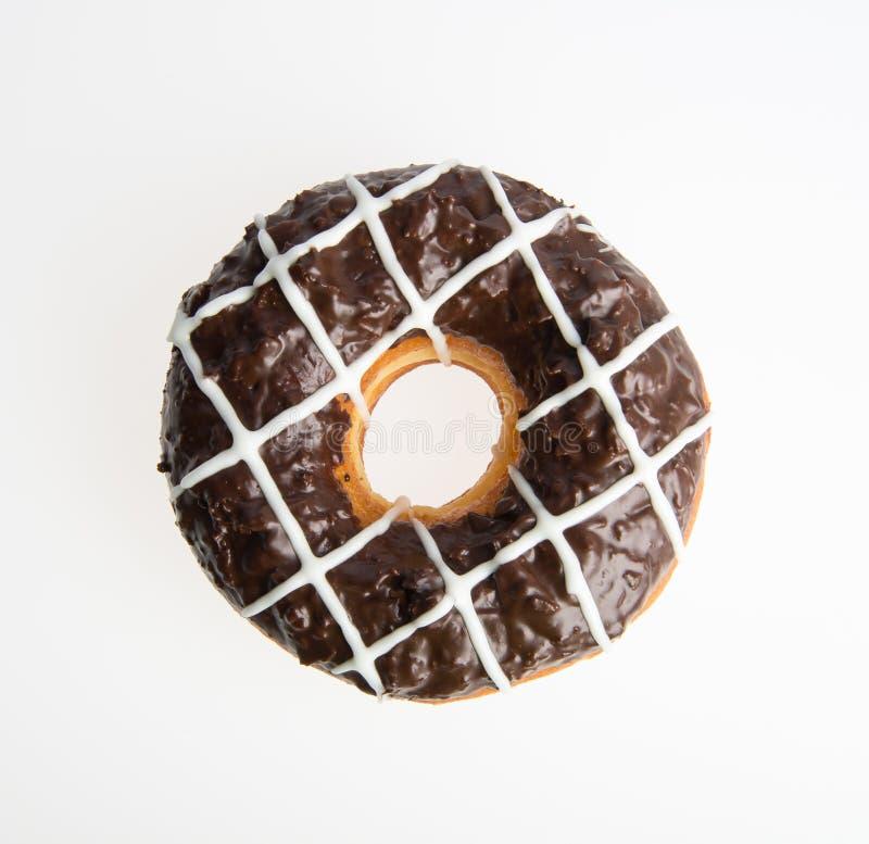beignet ou beignet de chocolat sur un fond photo stock