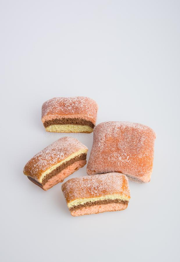 beignet ou beignet de sucre sur un fond photographie stock