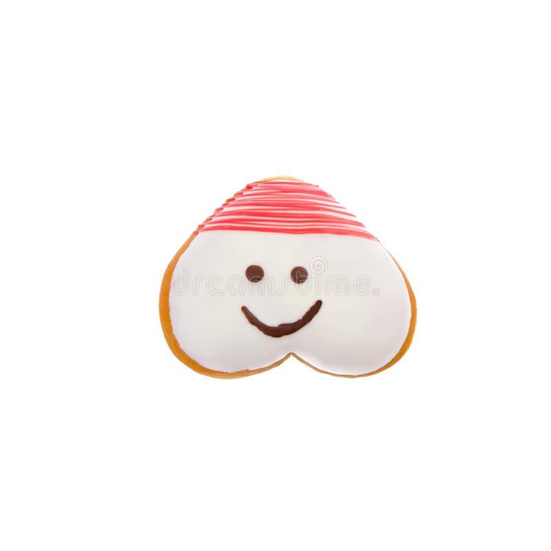 Beignet ou beignet drôle sur un fond images stock
