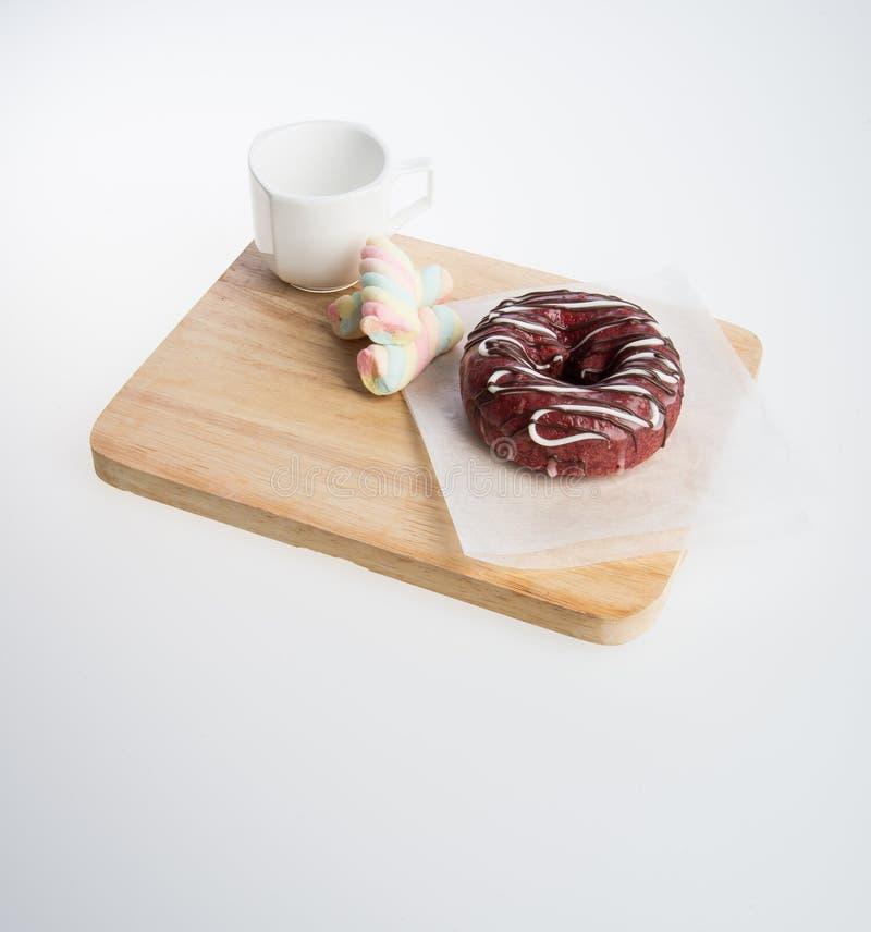 beignet ou beignet et café sur un fond photo libre de droits