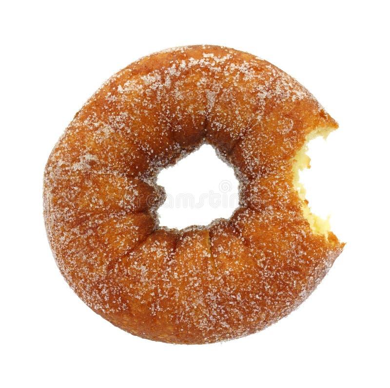 Beignet sucré mordu de gâteau images libres de droits