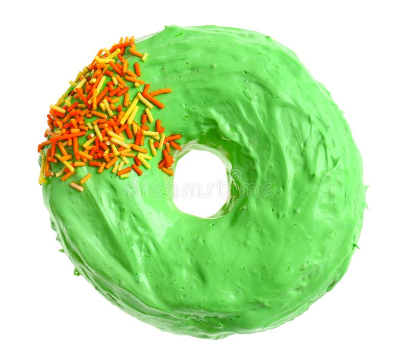Beignet vert délicieux photos stock