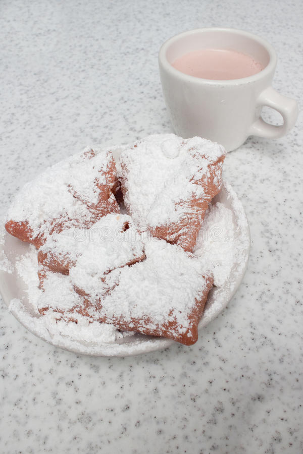 Beignets and Cafe Au Lait royalty free stock photos