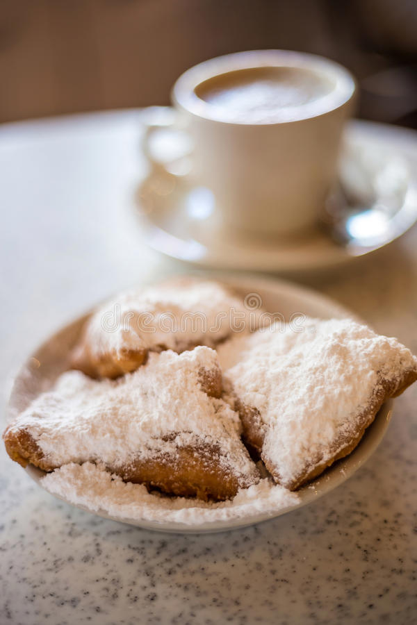Beignets (French style donuts) royalty free stock images