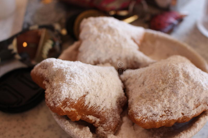 Beignets with Powders Sugar royalty free stock photos