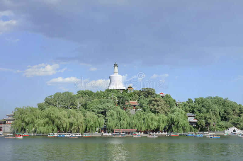 Beihai Park with famous white Stupa, Beijing, China. Beihai Park with the famous white Stupa, Beijing, China stock images