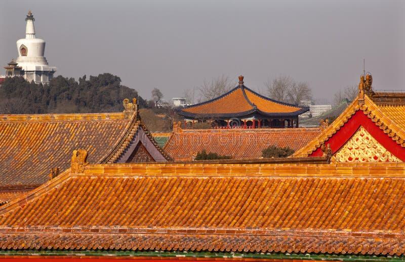 Download Beihai Stupa Blue Pavilion Forbidden City Beijing Stock Image - Image: 12240057