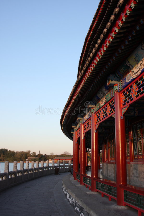 beihaibeijing korridor fotografering för bildbyråer
