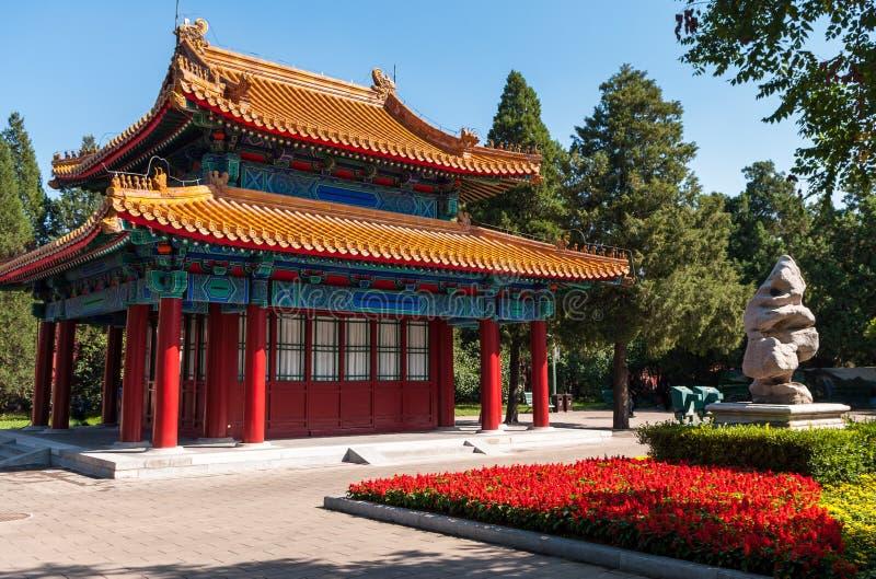 Beihaipark, dichtbij de Verboden Stad, Peking, China royalty-vrije stock afbeelding