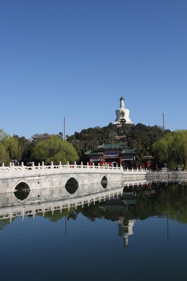 Beihaipark van Peking China â royalty-vrije stock fotografie