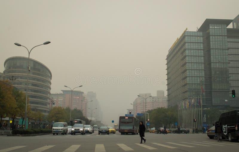 Beijing air pollution 3 royalty free stock photos