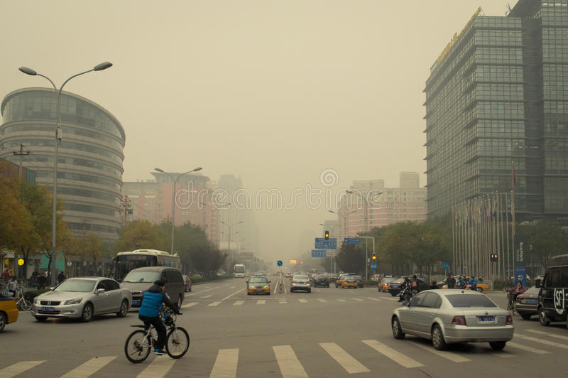 Beijing air pollution 2 stock image