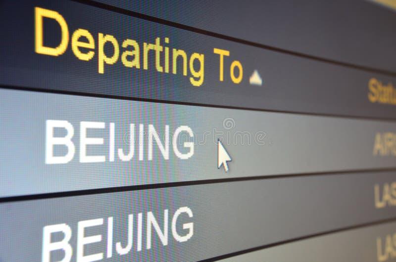 beijing avtågande flyg till fotografering för bildbyråer