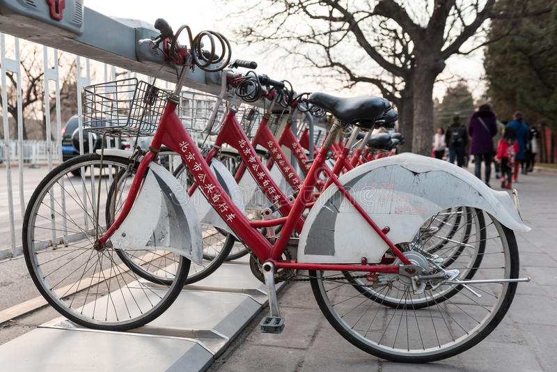 Download Beijing Bicycle Rental Editorial Photo - Image: 83706216