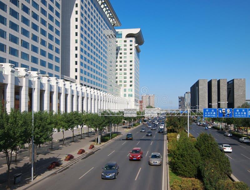 Beijing,China. Modern building in Beijing CBD,China stock photography