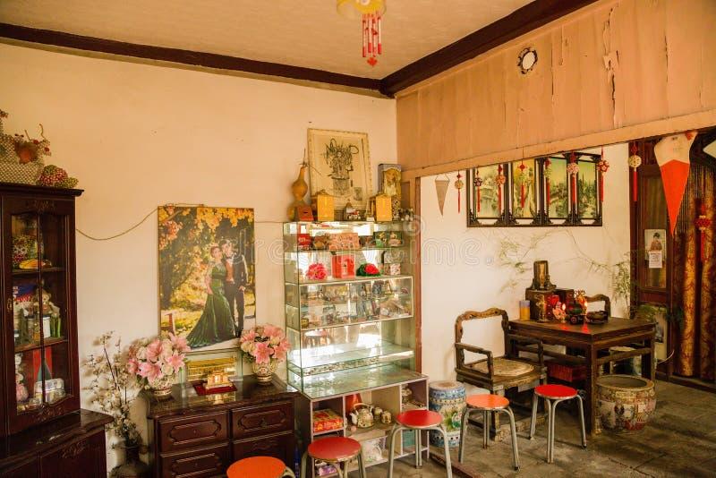Beijing, China Apartamentos interiores chineses - 3 imagem de stock royalty free