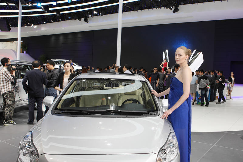 Download Beijing China April 27,female Model In Auto Show Editorial Stock Image - Image: 24552579